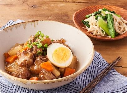 ぷるんとやわらか豚軟骨と根菜照り煮