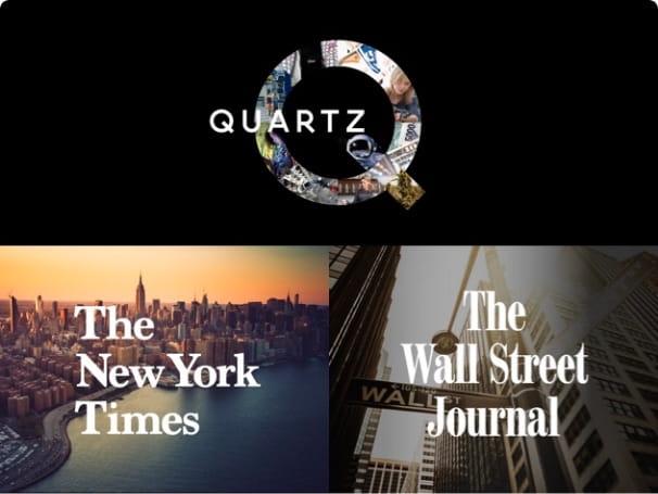QUARTZ, The New York Times, THE WALL STREET JOURNAL